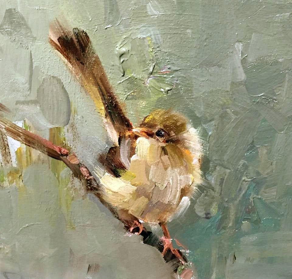 """Bird Collection(Gray)"" original fine art by Mostafa Keyhani"