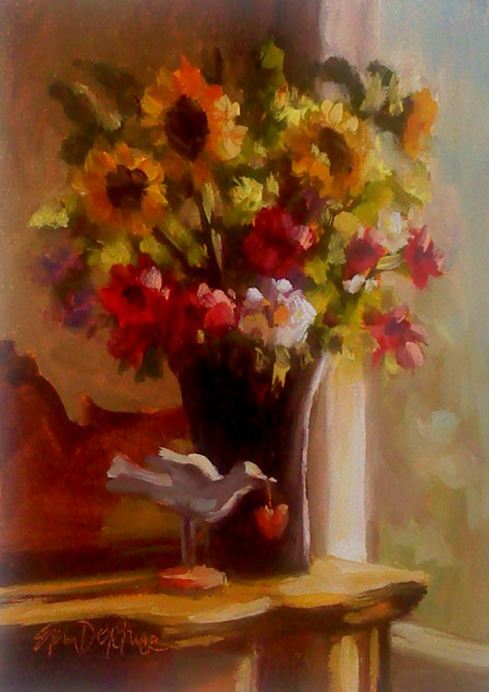 """Lulu's Bouquet"" original fine art by Erin Dertner"