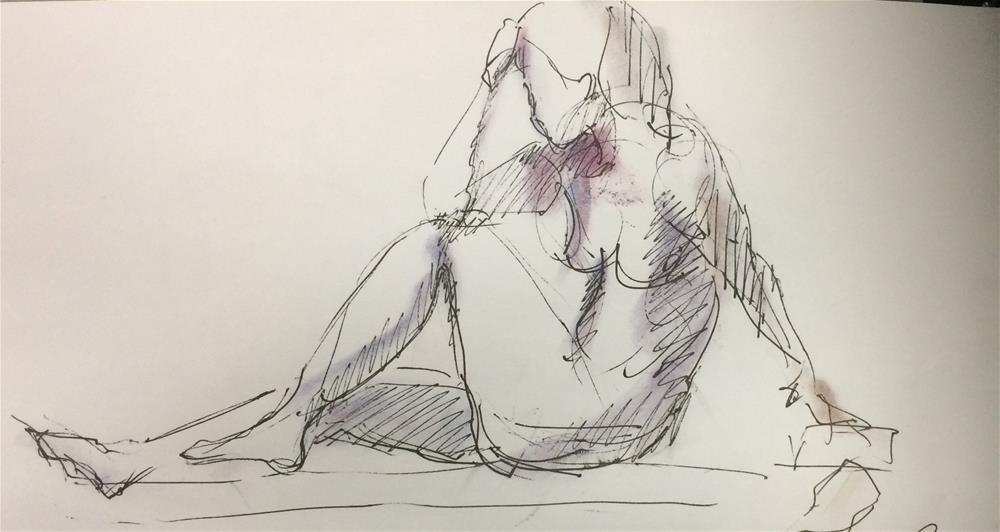 """girl 2"" original fine art by Naomi Bautista"