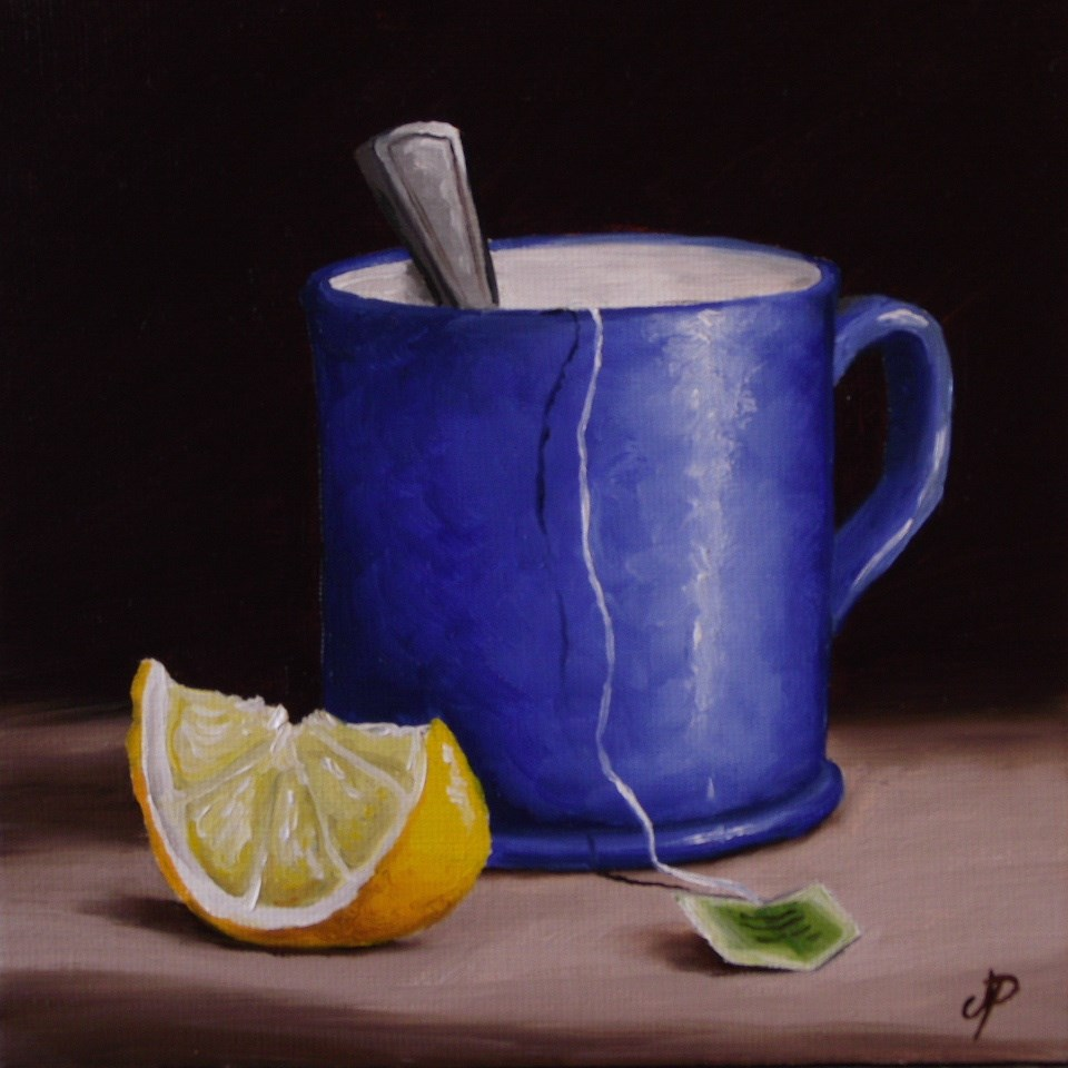 """Lemon Tea"" original fine art by Jane Palmer"