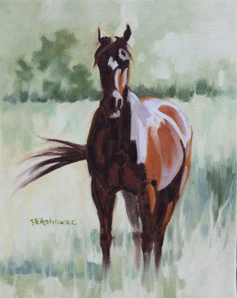 """Hershey"" original fine art by Susan Ashmore"