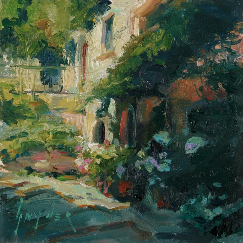 """Thirty Paintings in 30 Days #3 Luberon Village"" original fine art by Julie Snyder"
