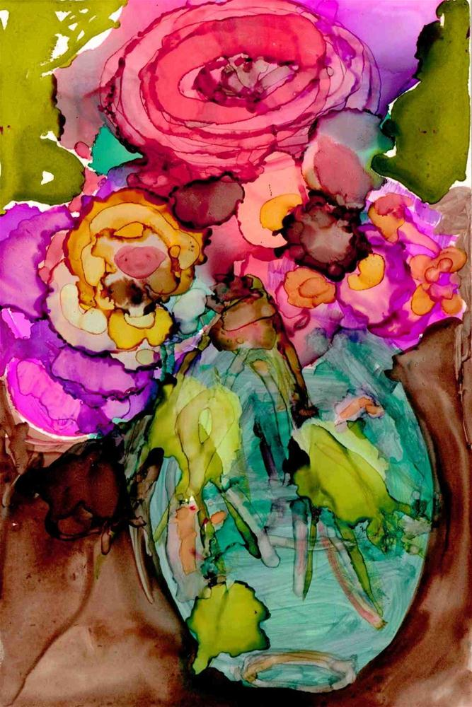 """Spring vase"" original fine art by Kelly Alge"