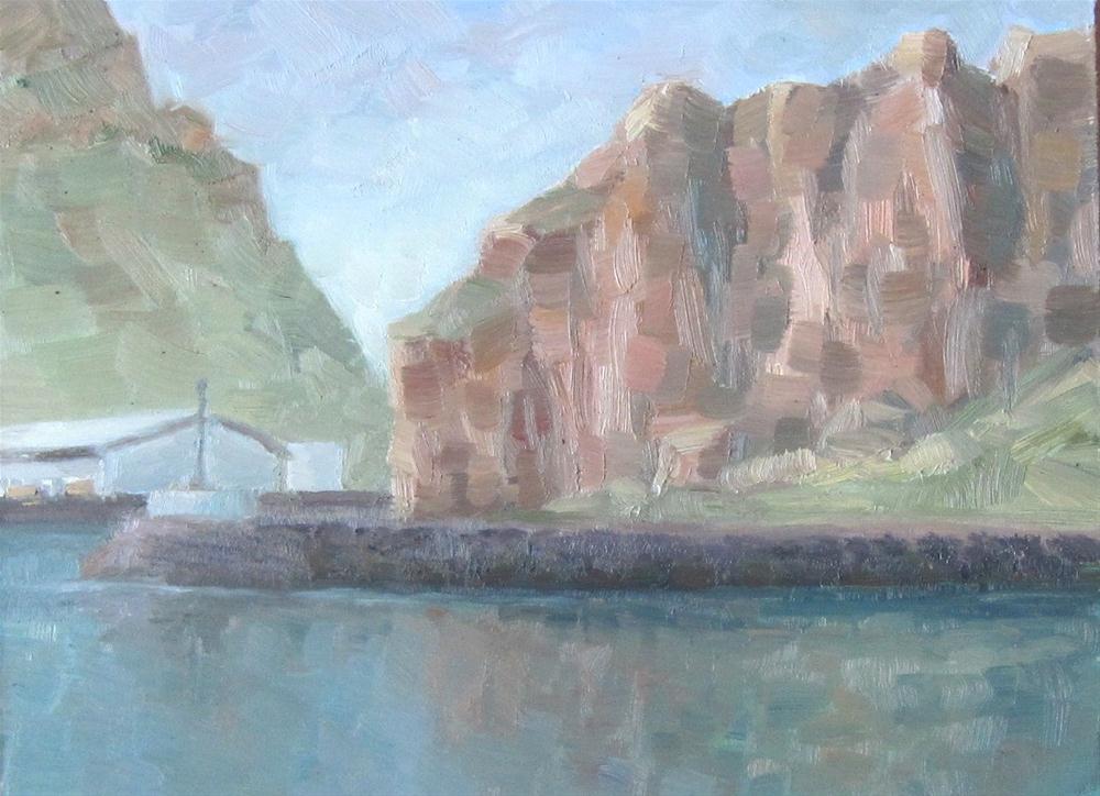 """Inner harbor"" original fine art by Steinunn Einarsdottir"