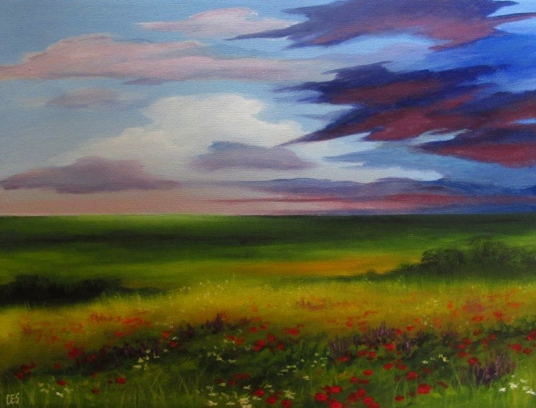 """Wildflowers"" original fine art by ~ces~ Christine E. S. Code"