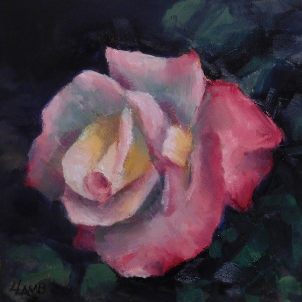 """Blushing Rose"" original fine art by Lori L. Lamb"