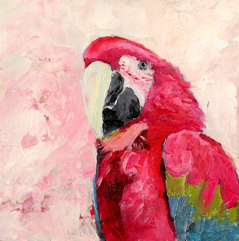 """PARROT PORTRAIT"" original fine art by Saundra Lane Galloway"
