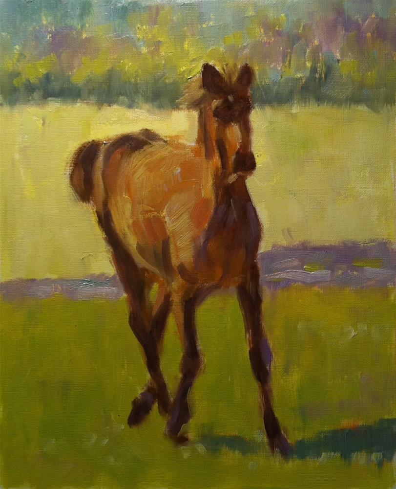 """Horse on the Move"" original fine art by Katharine March"