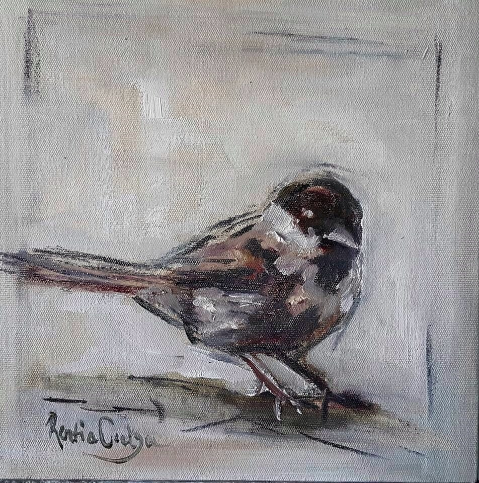 """Feeling chirpy"" original fine art by Rentia Coetzee"