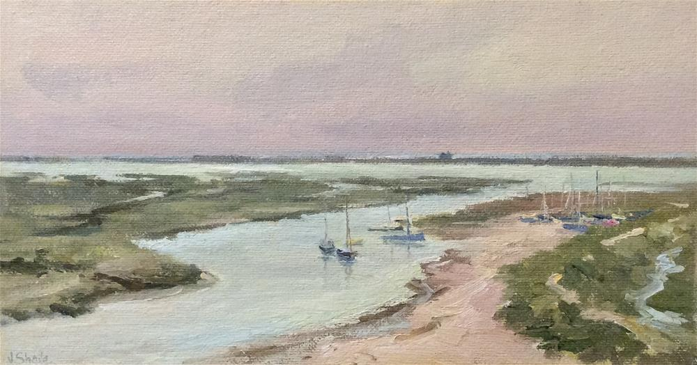 """Blakeney  Marshes"" original fine art by John Shave"