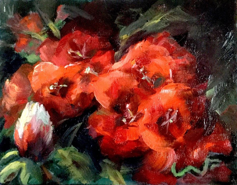 """Blossoms"" original fine art by Sharon Abbott-Furze"