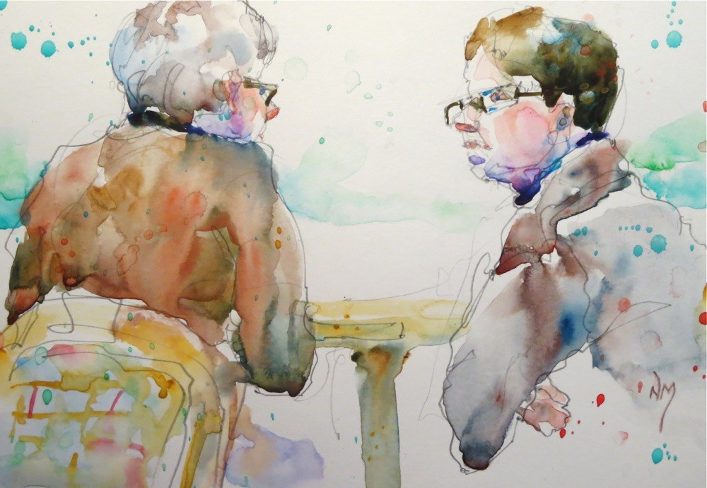 """in conversation"" original fine art by Nora MacPhail"