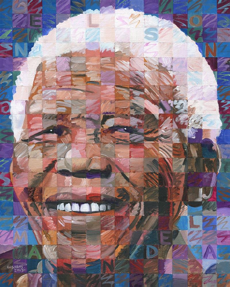 """Nelson Mandela"" original fine art by Randal Huiskens"