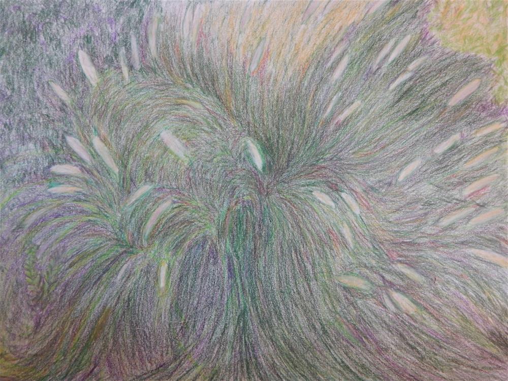 """Grasses"" original fine art by Elaine Shortall"