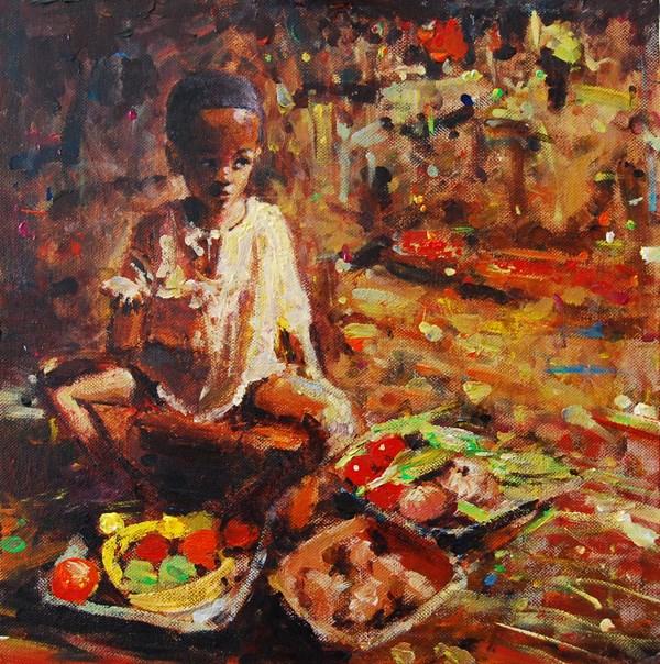 """KIDS, LIFE, ART & STUFF V"" original fine art by Adebanji Alade"