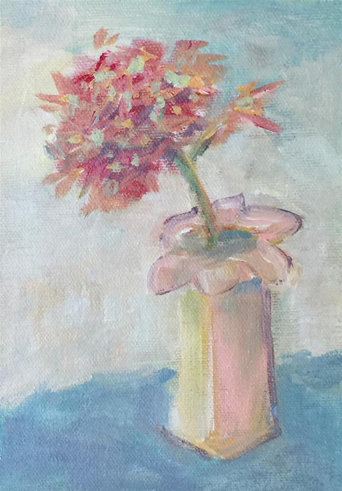 """A Little Bloom"" original fine art by Jo-Ann Sanborn"