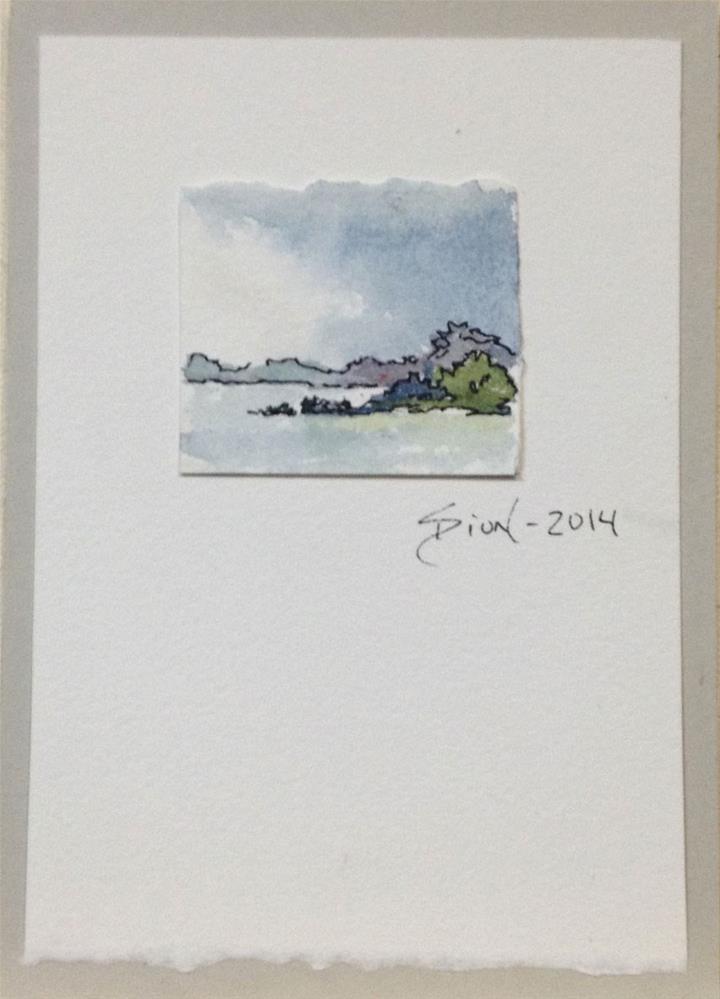 """Miniature Landscape #7"" original fine art by Sue Dion"