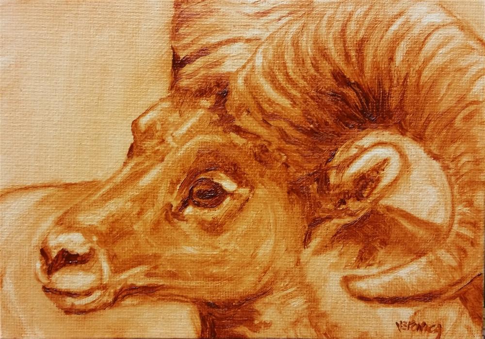 """Ram"" original fine art by Veronica Brown"