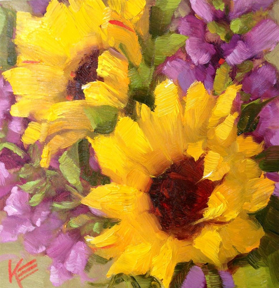 """Snapdragon Sunshine"" original fine art by Krista Eaton"