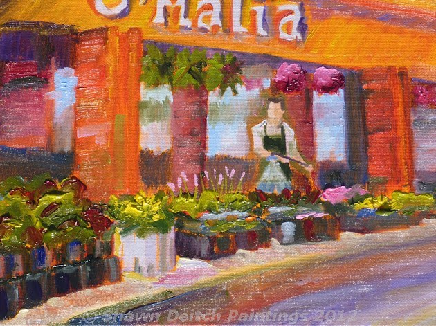 """O'Malia Food Market"" original fine art by Shawn Deitch"