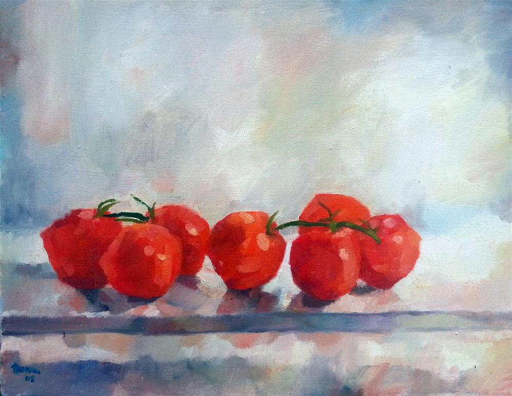 """Tomatoes on the Vine"" original fine art by Nava Judith"