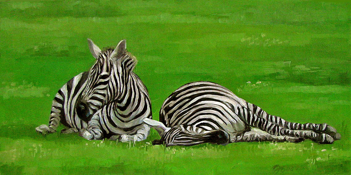 """Quality Time"" original fine art by Joanna Bingham"
