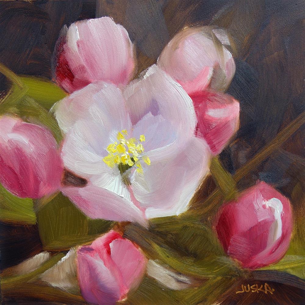 """""""Apple Blossoms"""" original fine art by Elaine Juska Joseph"""