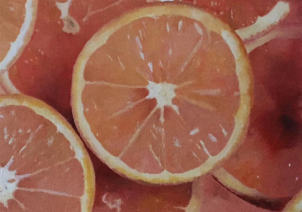 """Orange Slices"" original fine art by John Cameron"