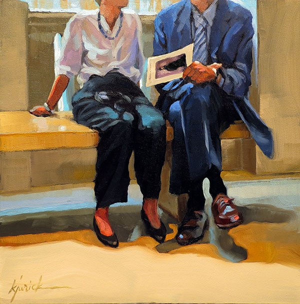 """Blind Date"" original fine art by Karin Jurick"