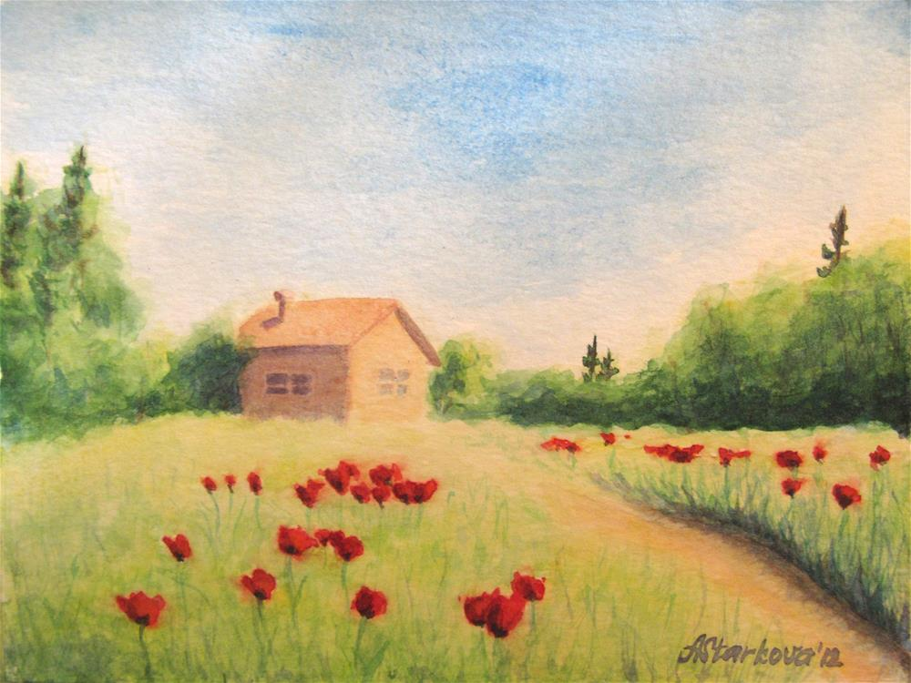 """Poppy field"" original fine art by Anna Starkova"
