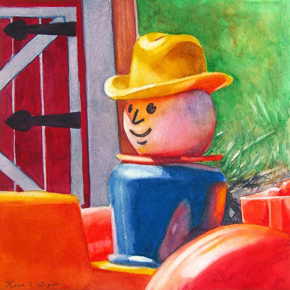 """Farming"" original fine art by Kara K. Bigda"