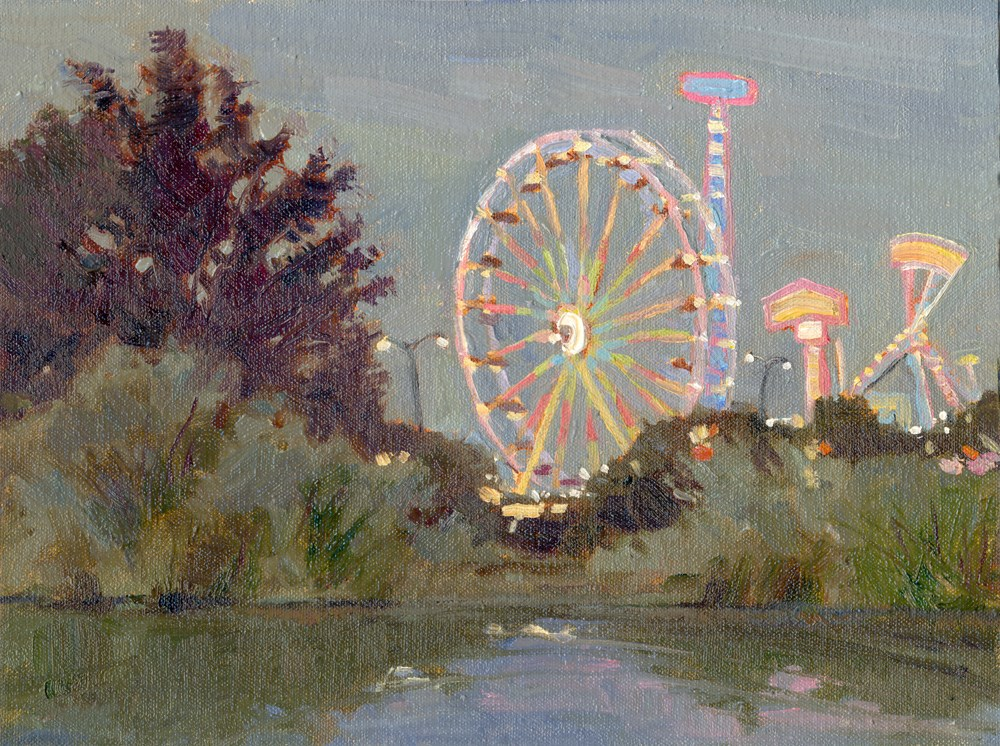 """County Fair Time"" original fine art by Kath Reilly"