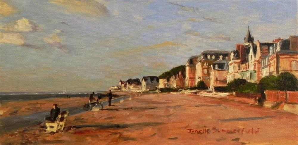 """Trouville Beach"" original fine art by Jonelle Summerfield"