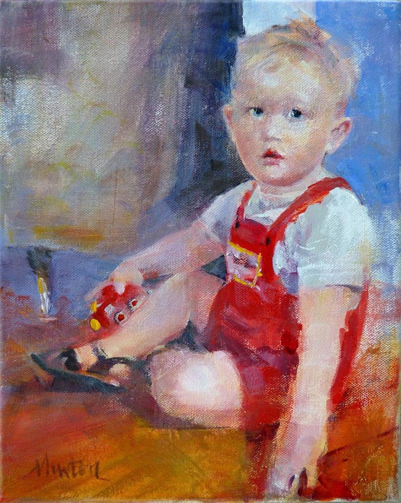 """Lola's brother, J.T."" original fine art by Barbara Benedetti Newton"