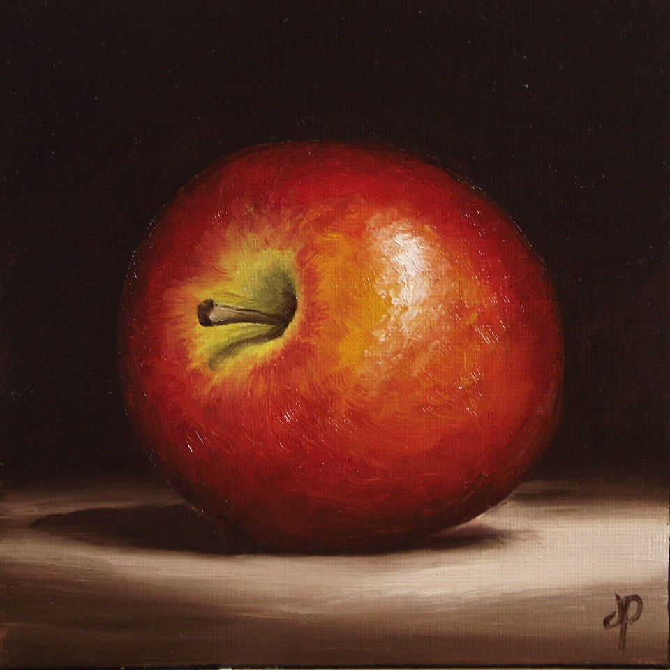 """Braeburn Apple #3"" original fine art by Jane Palmer"