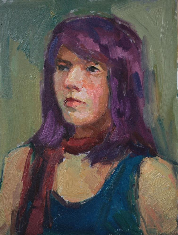 """Portrait Study #12"" original fine art by Kathryn Townsend"