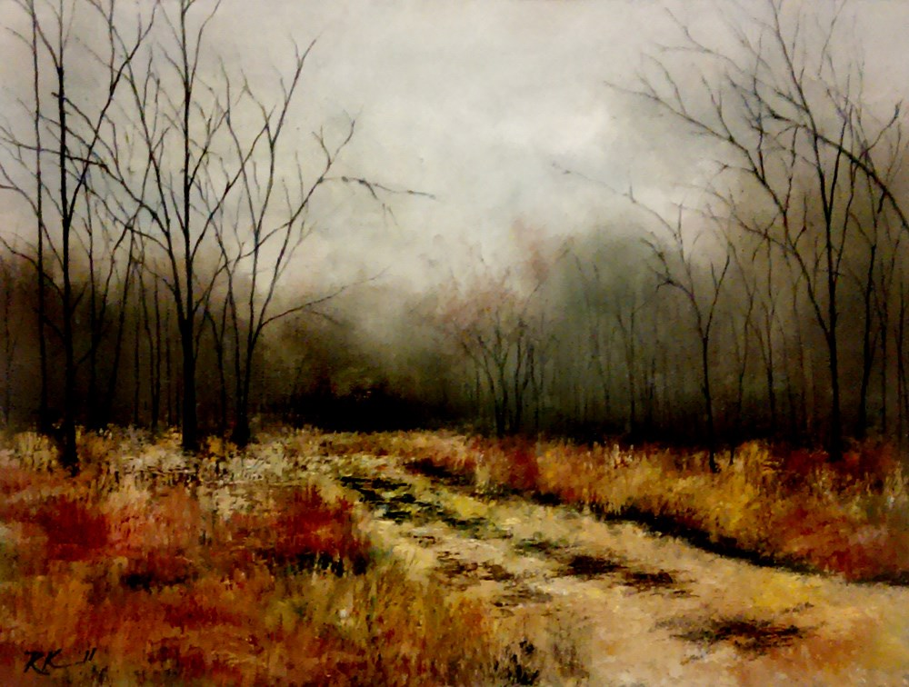 """A Road to the Woods"" original fine art by Bob Kimball"
