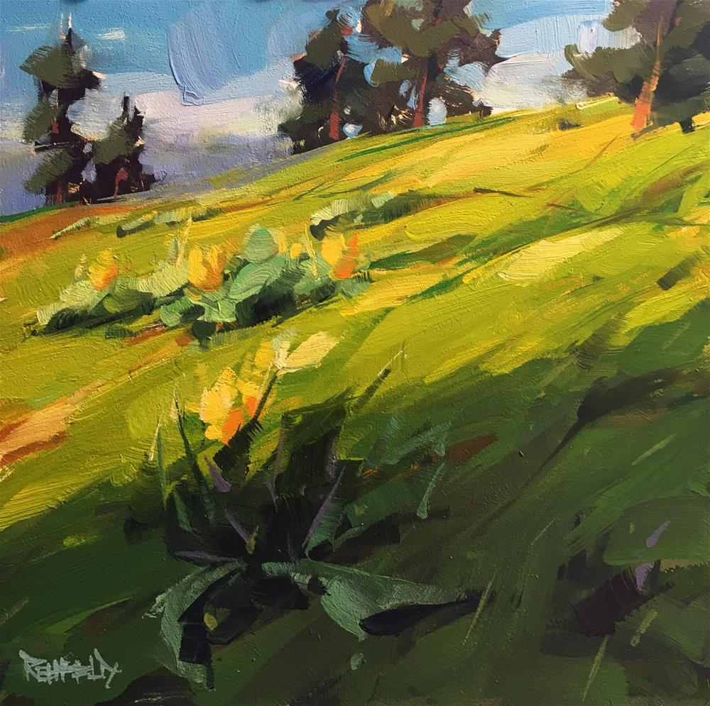 """Uphill Hike"" original fine art by Cathleen Rehfeld"