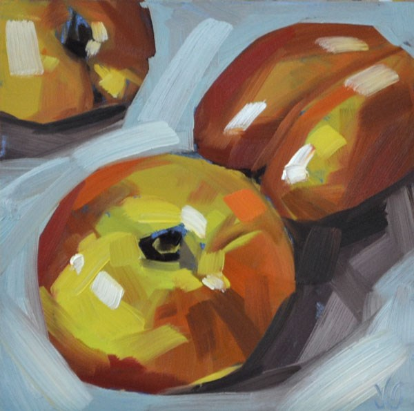 """Nectarines"" original fine art by Jessica Green"