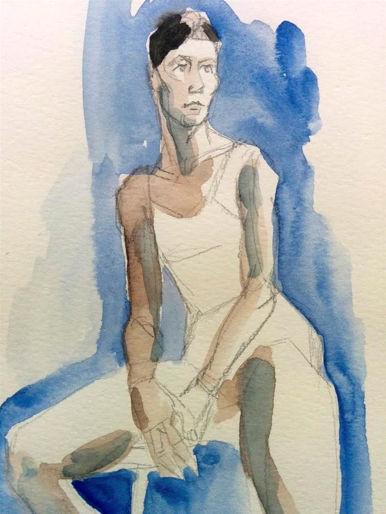 """Magda Sitting"" original fine art by Natalie Fruciano"