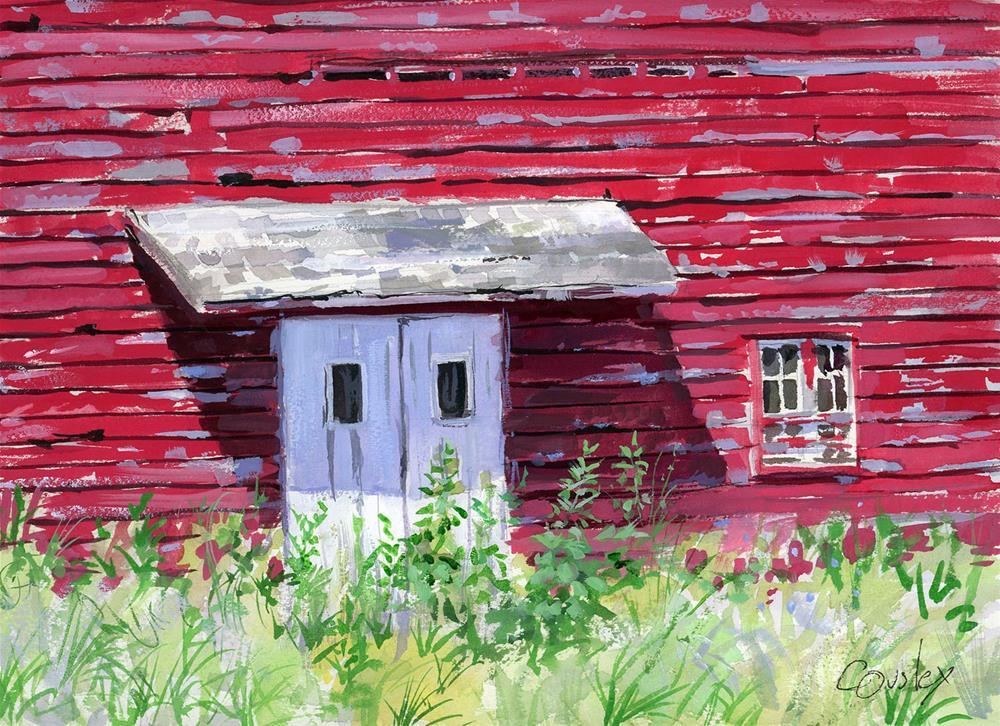 """Barn Door"" original fine art by Chris Ousley"