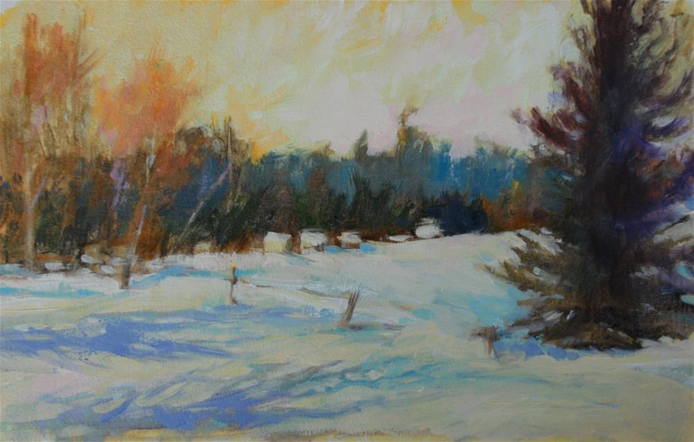 """Rural Winter Scene I"" original fine art by Jane Robertson"