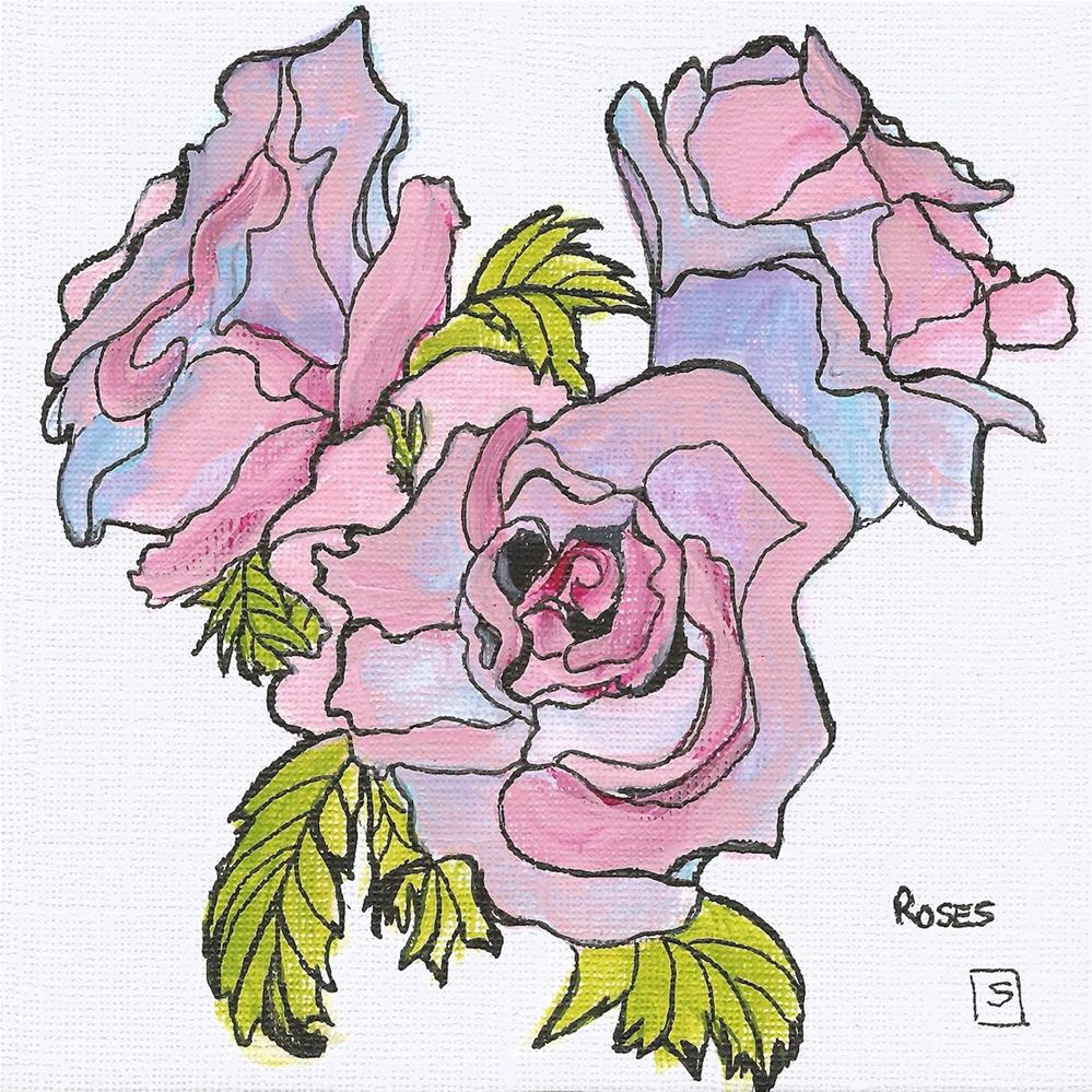 """6059 - Roses"" original fine art by Sea Dean"