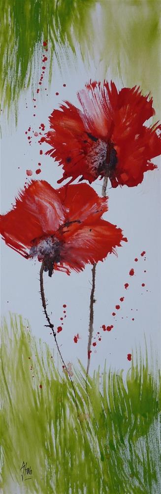"""Poppies I"" original fine art by Martin Stephenson"