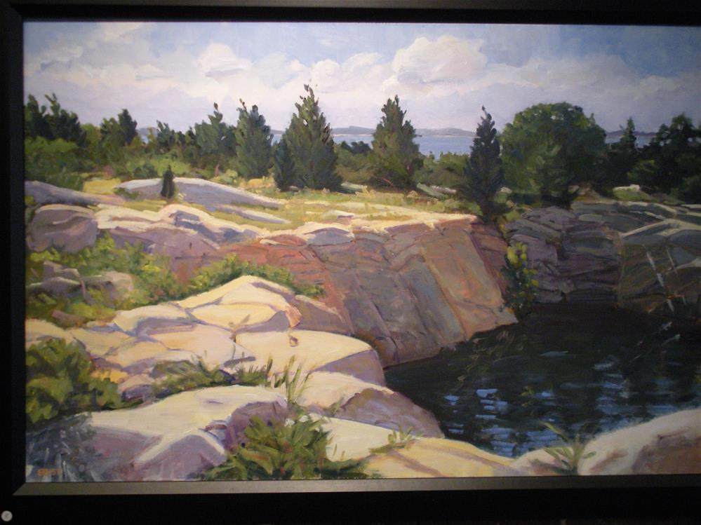 """Halibut Point on an August Day"" original fine art by Elizabeth Bish"