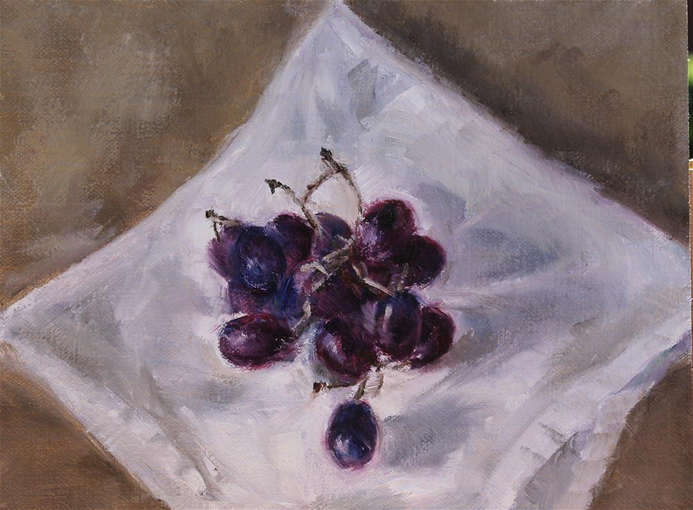 """Bunch of Grapes"" original fine art by Karen Solorzano"
