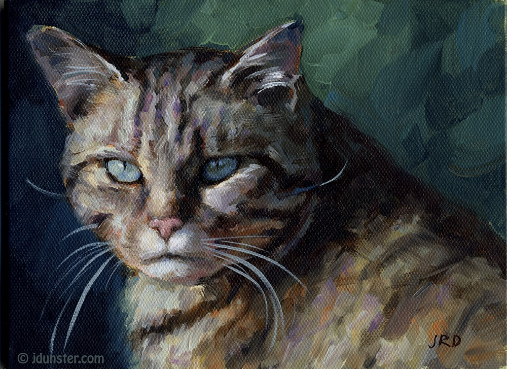 """Scottish Wildcat"" original fine art by J. Dunster"