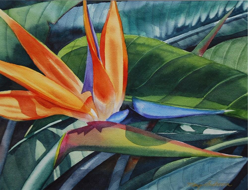 """Sun Bird"" original fine art by Mary Anderson"