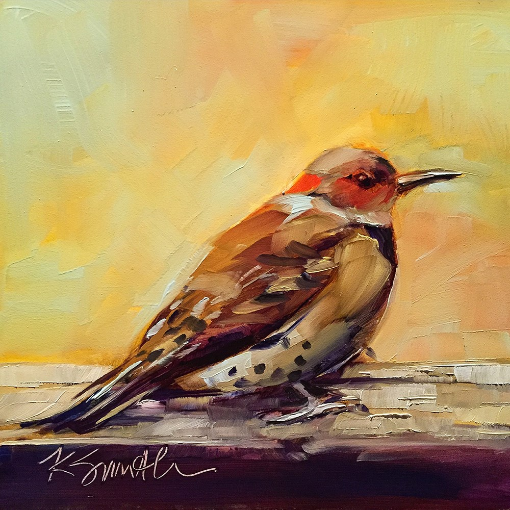 """northern flicker"" original fine art by Kim Smith"