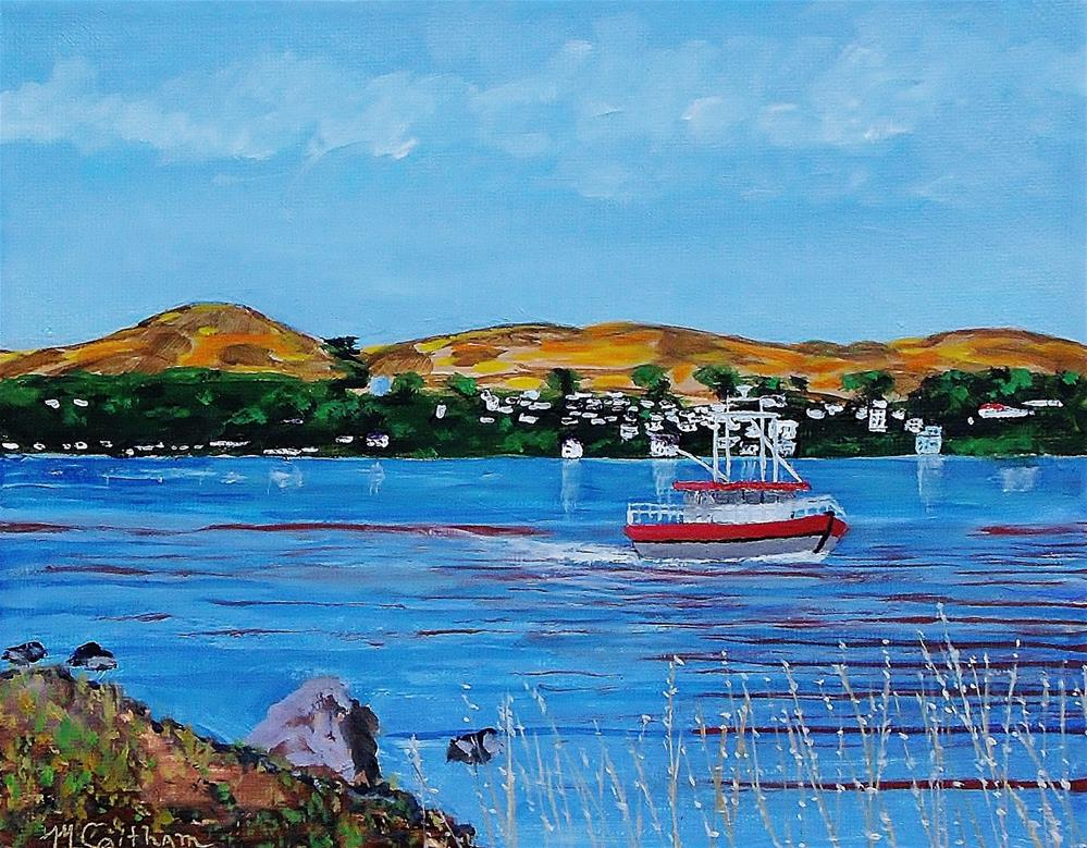 """""""Bodega Bay from Campbell Cove"""" original fine art by Mike Caitham"""